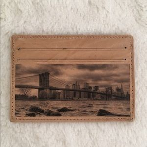 NEW NYC Leather Card Case Wallet